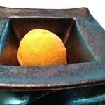 合掌レストラン 大蔵 - マンゴーのアイスクリーム