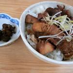 中華そば おかめ - チャーシュー丼(900円)