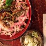 元禄 - 料理写真:冷やし山菜そば 860円