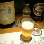 89028097 - ラガーをチェイサーに大阪のお酒もろたよ(*^^*)