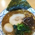 夕介 - 魚介とんこつ小(700円)+煮卵(100円)