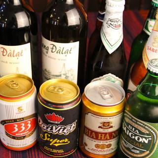 ベトナムのお酒やドリンクもたくさん味わえます