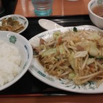 日高屋 - 肉野菜炒め定食 630円 ご飯小