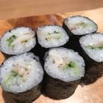 寿司処 都々井 - ひもきゅうり巻き