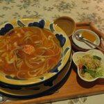 えきばしゃ - スープパスタ(シーフード)¥880