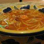 えきばしゃ - 辛めのスープです