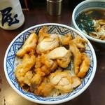 たつ屋 - 鶏丼&ミニうどんセット@650