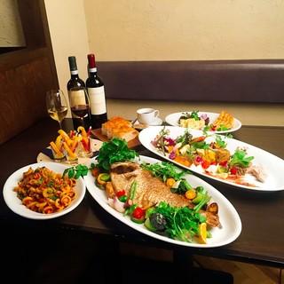 貸切りイタリア料理が大好評!お誕生日会にも貸切りで要相談。