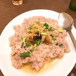 南粤美食 - 鹹魚肉餅。鹹魚がゴロリと入っていて、ケチクサさがないのがいい。