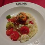 クッチーナ雪月花 - 生うにとフルーツトマトの冷製カッペリーニ