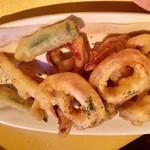 びすとろUOKIN - スルメイカと季節野菜のフリット780円