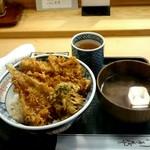 天茂 - ランチ『天丼』¥1400- 『赤だし』¥100-