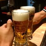 広島焼き どんき - 乾杯
