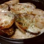 広島焼き どんき - 茄子・蓮根の鉄板チーズ焼き