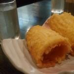 和洋創作厨房ビズ - 日本酒ととうもろこしの天ぷら