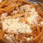 スパゲッティーのパンチョ - 粉チーズをかけました