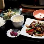 89058802 - 茄子と豚肉の味噌炒め(Aランチ)