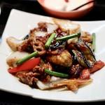 89058806 - 茄子と豚肉の味噌炒め(Aランチ)