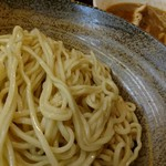 日乃屋 - カミナリつけ麺。調子に乗って大盛。