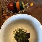 89066930 - 自家製漬物と菌が生きてるお味噌汁