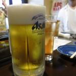 梁山苑 - バケツのようなビール(◎-◎;)