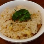 niboshichuukasobasuzuran - 浅利の炊き込みご飯