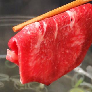 コース料理に+500円で牛タンしゃぶしゃぶ食べ放題!