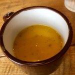 メキシカン キッチン オラレ - スープは2種あり かぼちゃのポタージュをチョイス