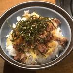 89078996 - 大山黒牛焼肉定食(ランチ)の牛そぼろご飯