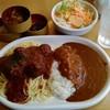 カレー専門店 パピー - 料理写真:本日のランチセット ミートボールミートソース&カレーライス 780円