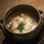 89079000 - 大山黒牛焼肉定食(ランチ)の牛骨玉子スープ