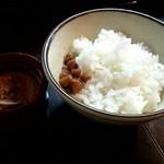 89080240 - 「ごはん 中(貝柱の佃煮と自家製おかか付き)」