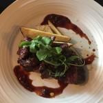 アメニテ ギンザ - パリ風牛ハラミ肉ラヴェットステーキ&自家製フレンチフライ¥1500