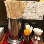 麺屋 虎司 - テーブルの上