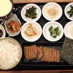 牛かつ専門店 日本橋 富士 - ポッサムチーズフォンデュ牛カツ膳