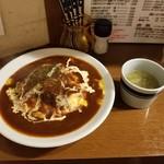 89088318 - 牛タン煮込みのオムハヤシライス