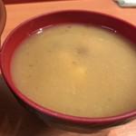 天ぷら 豊野 - なめこ汁