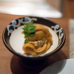 くずし鉄板 あばぐら - 2018.7 ホヤ塩辛と味噌クリームチーズ