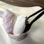 ナガイファーム - 料理写真:ジェラート〜木いちごミルク・ピュアミルク