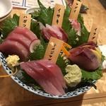 伊東の魚とワインの店 イトウバル - お刺身盛り合わせ