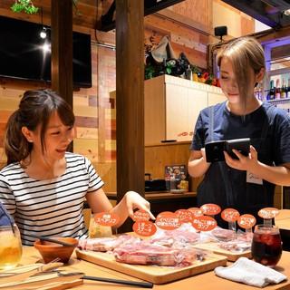 ●様々な種類の塊肉をグラム単位で楽しめます♪