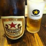 北海道らーめん ひむろ - ビール中瓶500円税込
