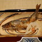 瓢亭 - 小鮎の塩焼き