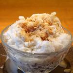 祇園NITI - ミルク金時に添えてあった珈琲をかけました