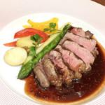 ココシエール - 牛フィレステーキ 粒マスタードソース