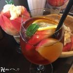 桃の農家カフェ ラペスカ - 桃の紅茶 ( 500円 )