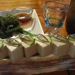 我空 我空 - スクガラス豆腐と海ぶどう。
