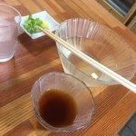 藤の家食堂 - 相方の素麺の食べ後w薬味が残ってる(´・ω・`)