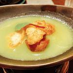 89123040 -                        しんじゃがの煮っころがしと白身魚の登板焼き❣️薄い豆の餡掛けで(*´꒳`*)