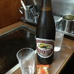 丸福 - 瓶ビール大(ラガー)